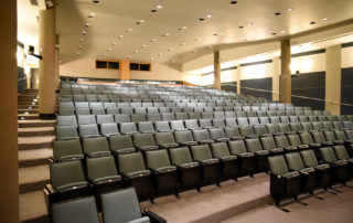Proshansky Auditorium - Auditorium Rental in NYC. Comfortable audience seating.