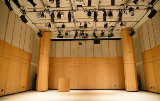 Black Box Theater Rental in NYC - Segal Theatre. Empty space, which can accommodate a variety of events.