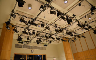 Segal Theatre - Black Box Theater Rental in NYC. Advanced lighting set up.